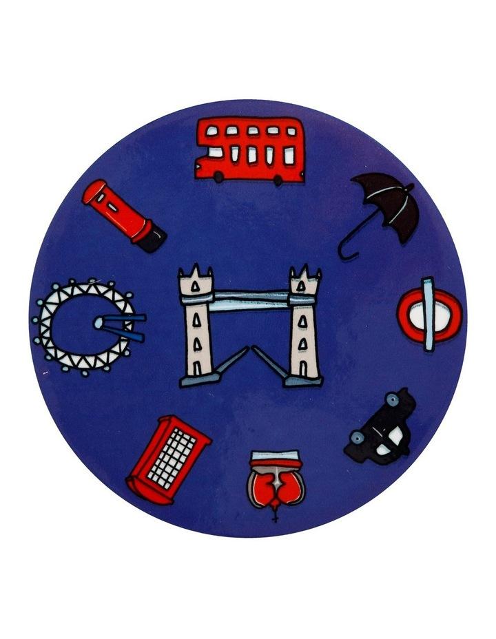 Megan McKean Cities Ceramic Round Coaster 10.5cm London image 1