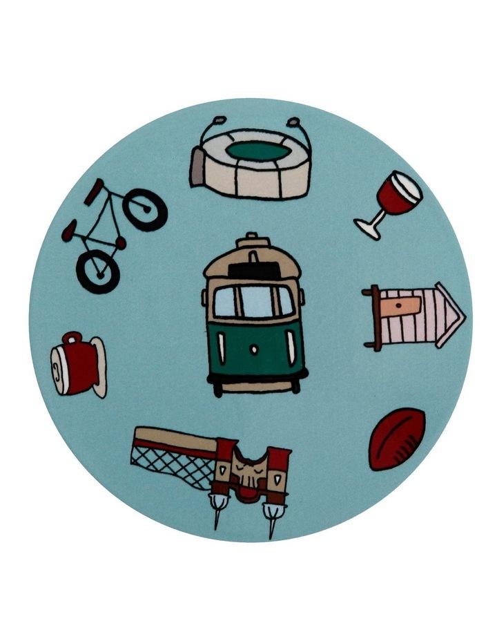Megan McKean Cities Ceramic Round Coaster 10.5cm Melbourne image 1