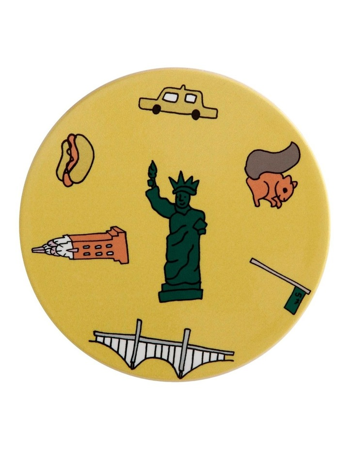 Megan McKean Cities Ceramic Round Coaster 10.5cm New York image 1