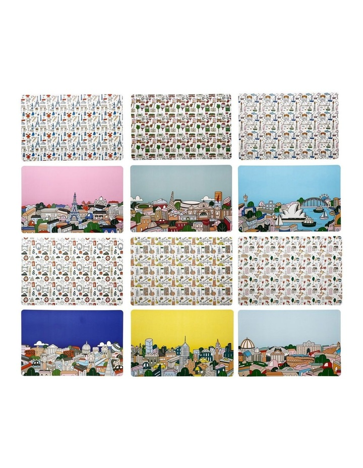 Megan McKean Cities Reversible Placemat 43.5x28.5cm 6pc Gift Pack image 2