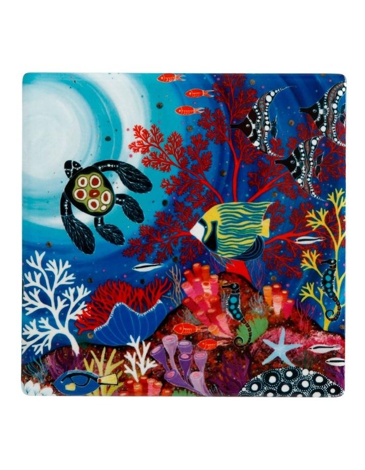 Melanie Hava Jugaig-Bana-Wabu Ceramic Square Coaster 10cm Reef Wonderland image 1