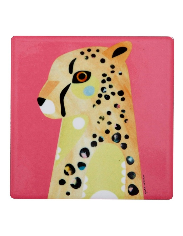 Pete Cromer Wildlife Ceramic Square Coaster 9.5cm Cheetah image 1