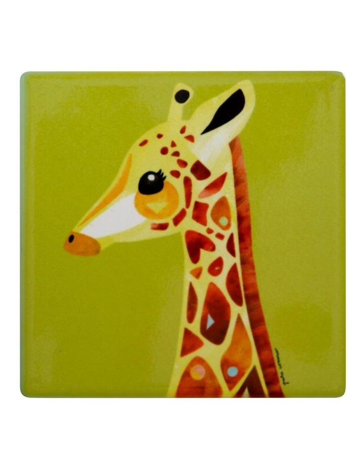Pete Cromer Wildlife Ceramic Square Coaster 9.5cm Giraffe image 1