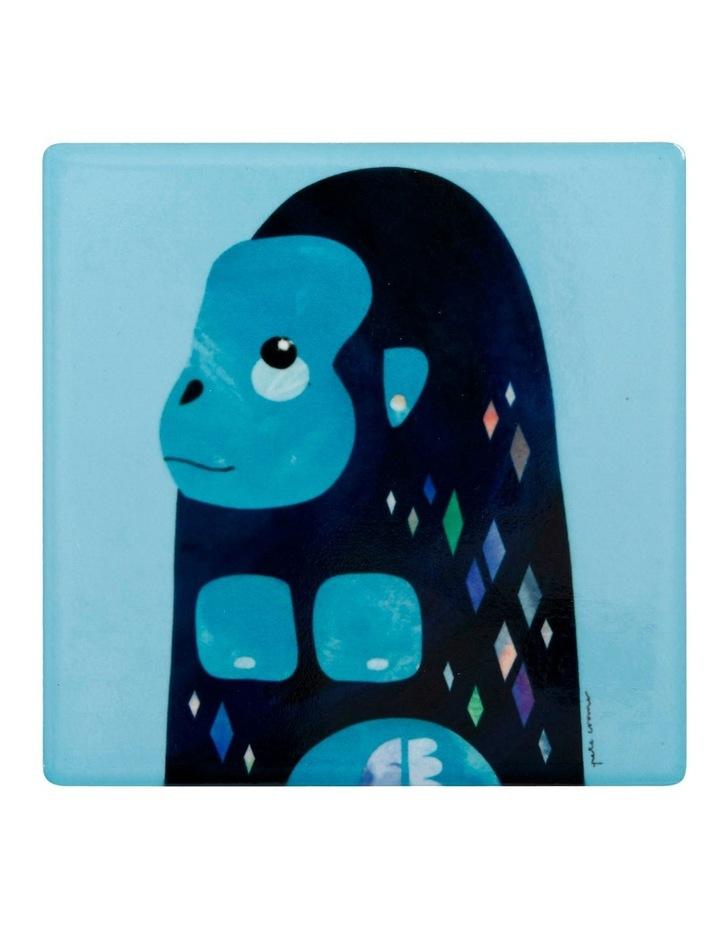 Pete Cromer Wildlife Ceramic Square Coaster 9.5cm Gorilla image 1