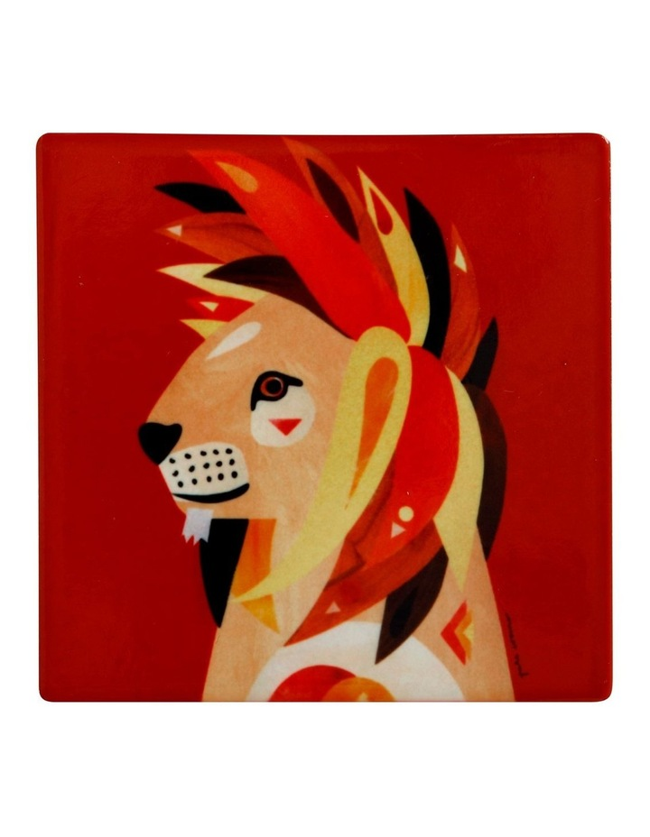 Pete Cromer Wildlife Ceramic Square Coaster 9.5cm Lion image 1