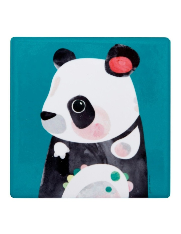 Pete Cromer Wildlife Ceramic Square Coaster 9.5cm Panda image 1