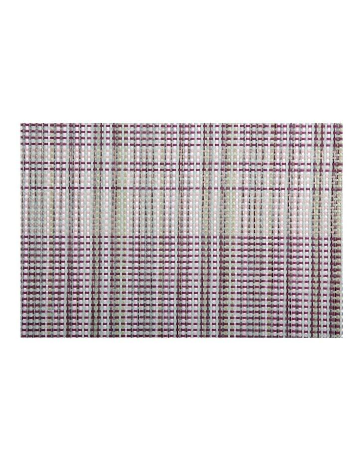 Placemat 45x30cm Woven Aubergine image 1