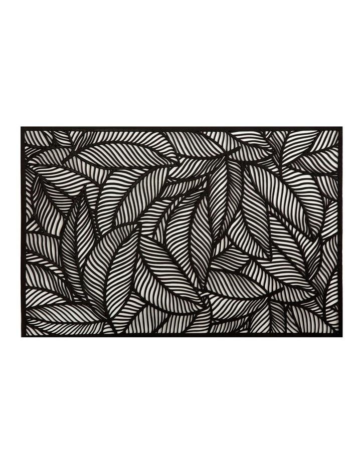 Table Accents Cut-Out Placemat 45x30cm Leaf Black image 1