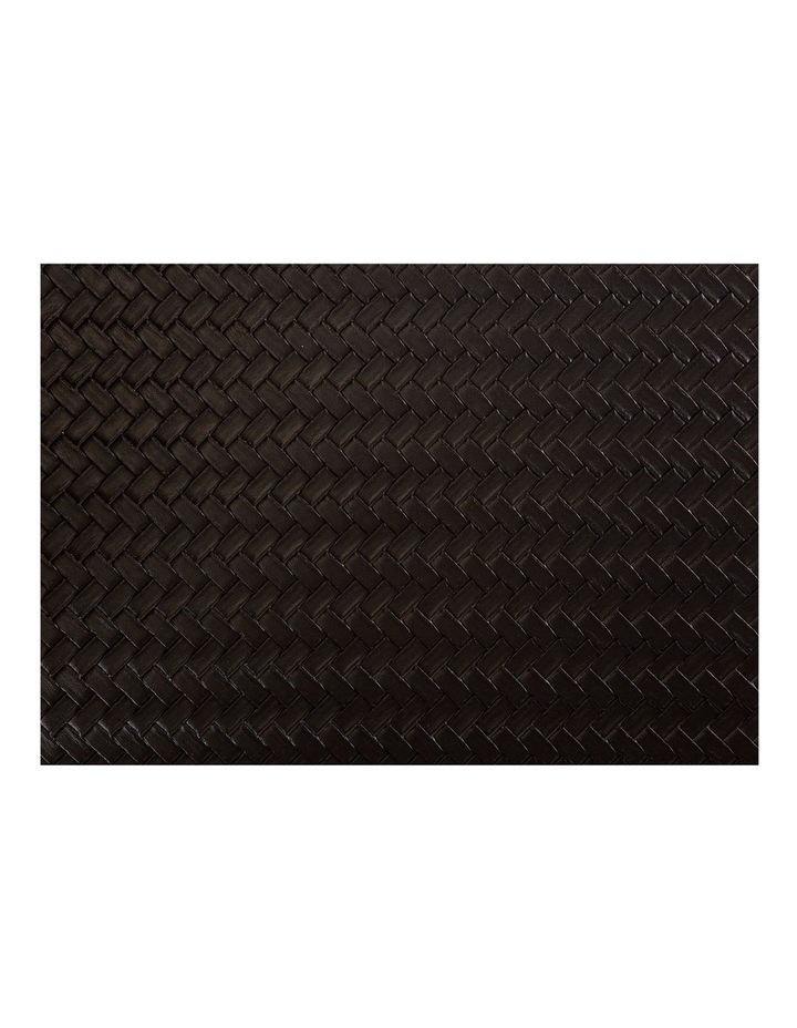 Table Accents Leather Look Placemat 43x30cm Black Plait image 1