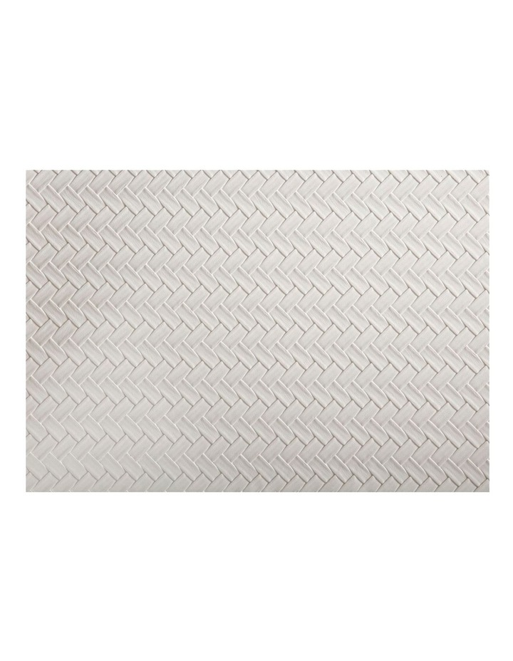 Table Accents Leather Look Placemat 43x30cm Ivory Plait image 1