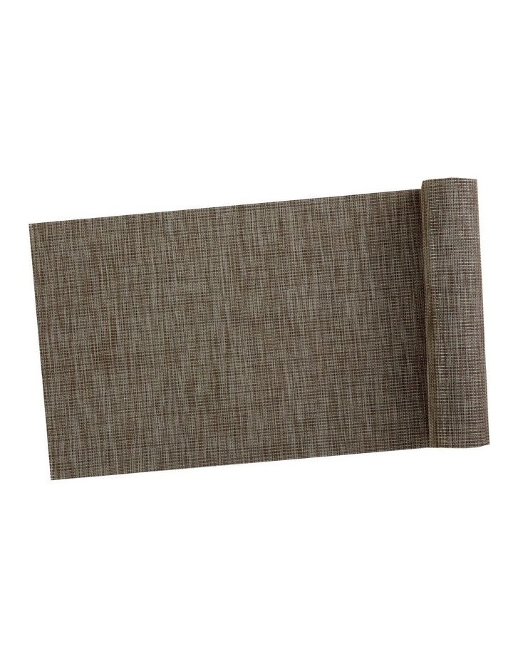 Table Accents Lurex Runner 30x150cm Taupe Stripe image 1