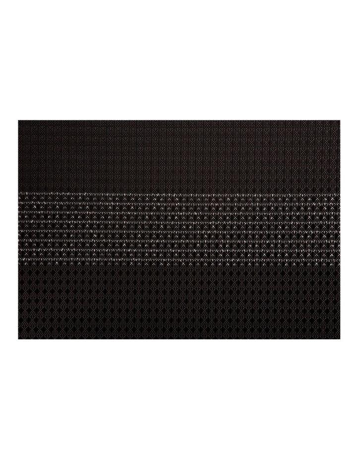 Table Accents Woven Lurex Placemat 45x30cm Black image 1