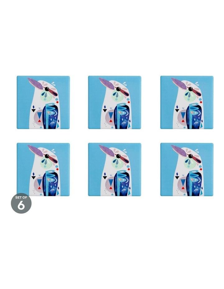 Pete Cromer Ceramic Square Coaster 9.5cm Kookaburra Set of 6 image 1
