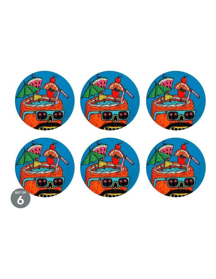 Mulga the Artist Ceramic Round Coaster 10.5cm Coconut Set of 6 image 1