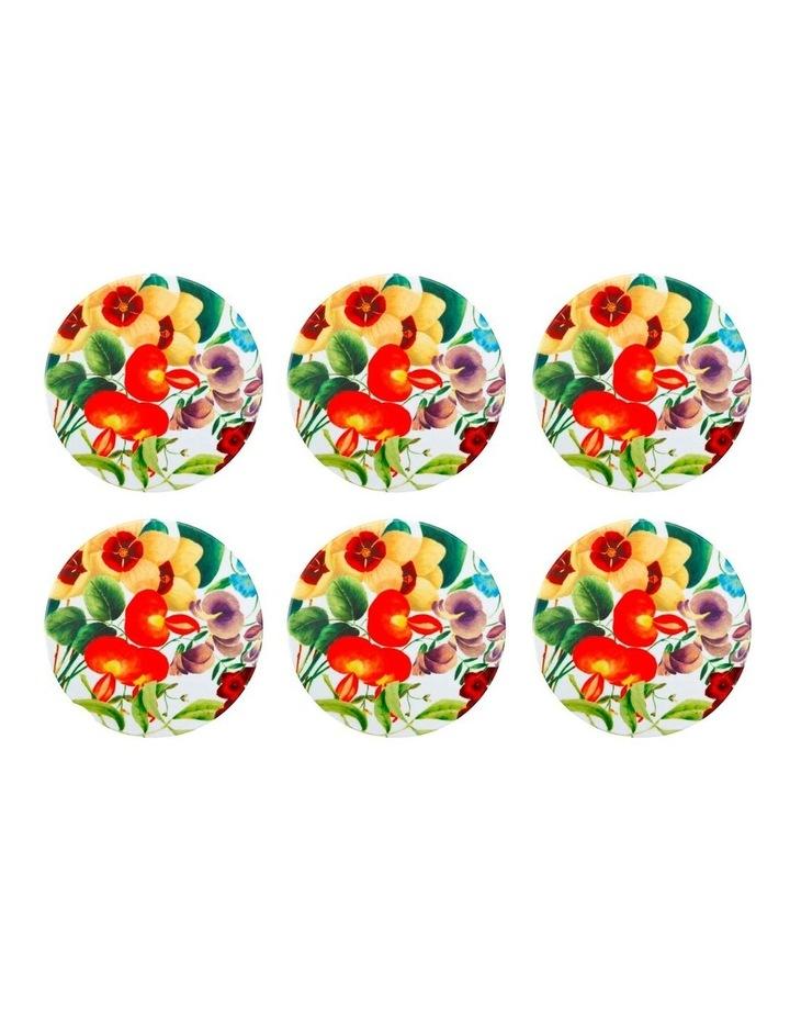 Royal Botanic Gardens Euphemia Henderson Ceramic Round Coaster 9.5cm Sweet Pea Set of 6 image 1