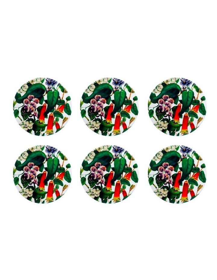 Royal Botanic Gardens Euphemia Henderson Ceramic Round Coaster 9.5cm Native Fuchsia Set of 6 image 1
