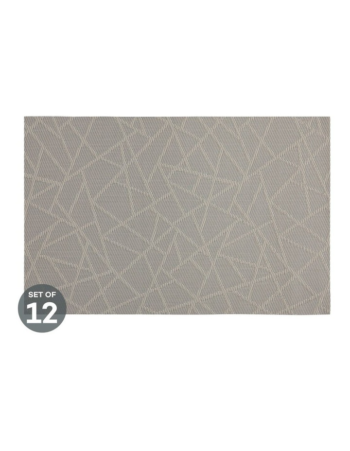 Placemat Mosaic 45x30cm Taupe Set of 12 image 1
