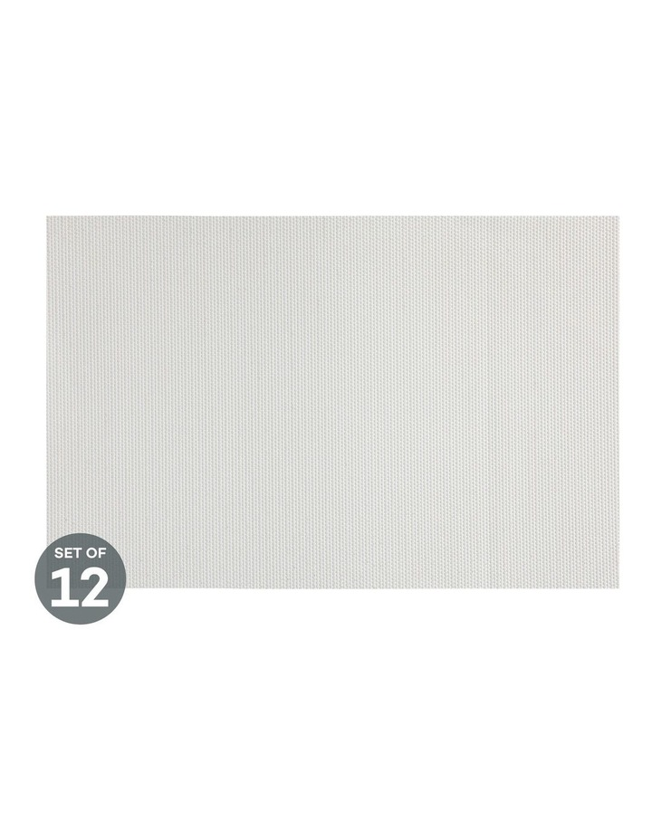 Placemat Glimmer 45x30cm White Set of 12 image 1