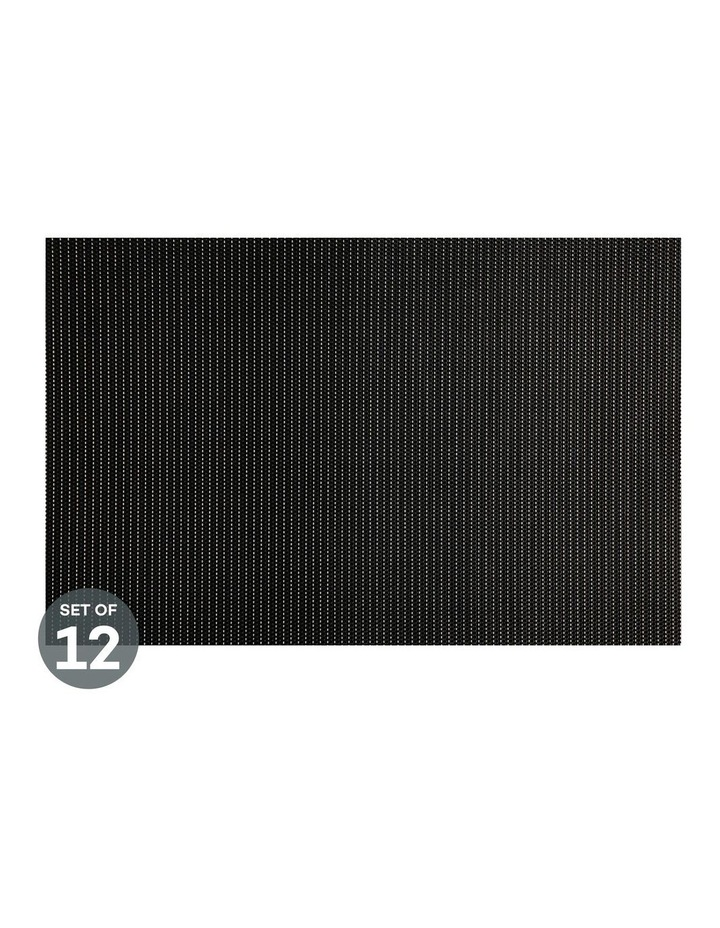 Placemat Glimmer 45x30cm Black Set of 12 image 1