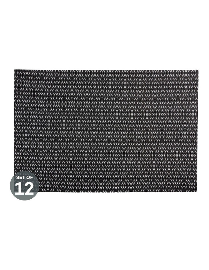 Placemat Gypsy 45x30cm Black Set of 12 image 1
