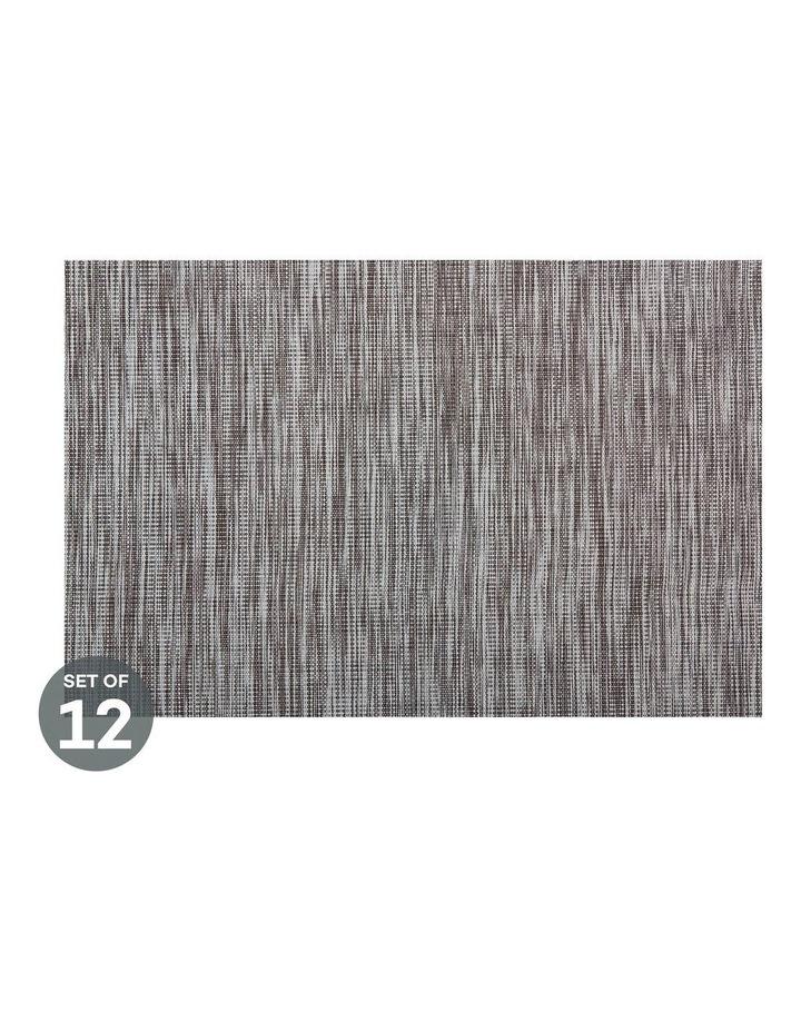 Placemat Lurex 45x30cm Grey Stripe Set of 12 image 1