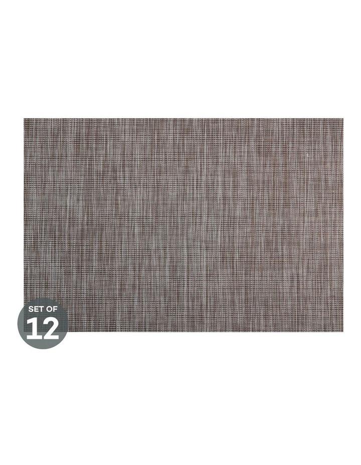 Placemat Lurex 45x30cm Taupe Stripe Set of 12 image 1