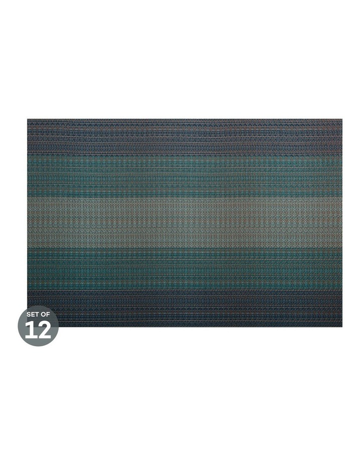 Placemat Ocean 45x30cm Dark Blue Set of 12 image 1