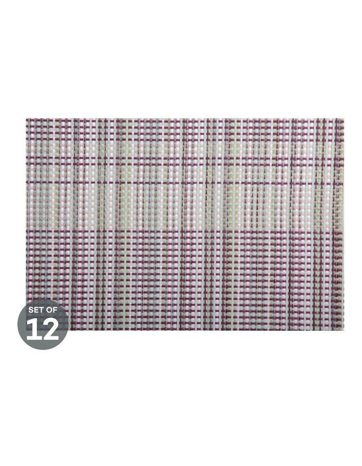 Placemat 45x30cm Woven Aubergine Set of 12 image 1