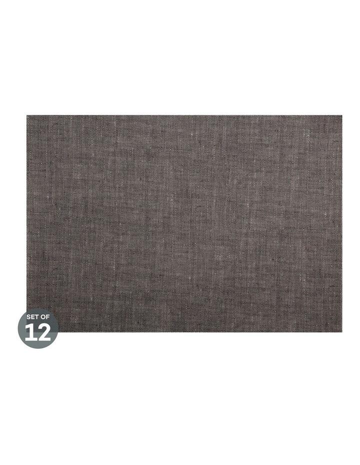 Placemat 43x30cm Linen look Walnut Set of 12 image 1