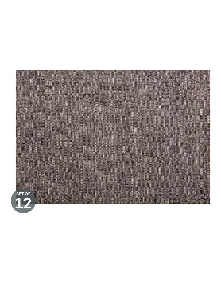 Placemat 43x30cm Linen look Khaki Set of 12 image 1