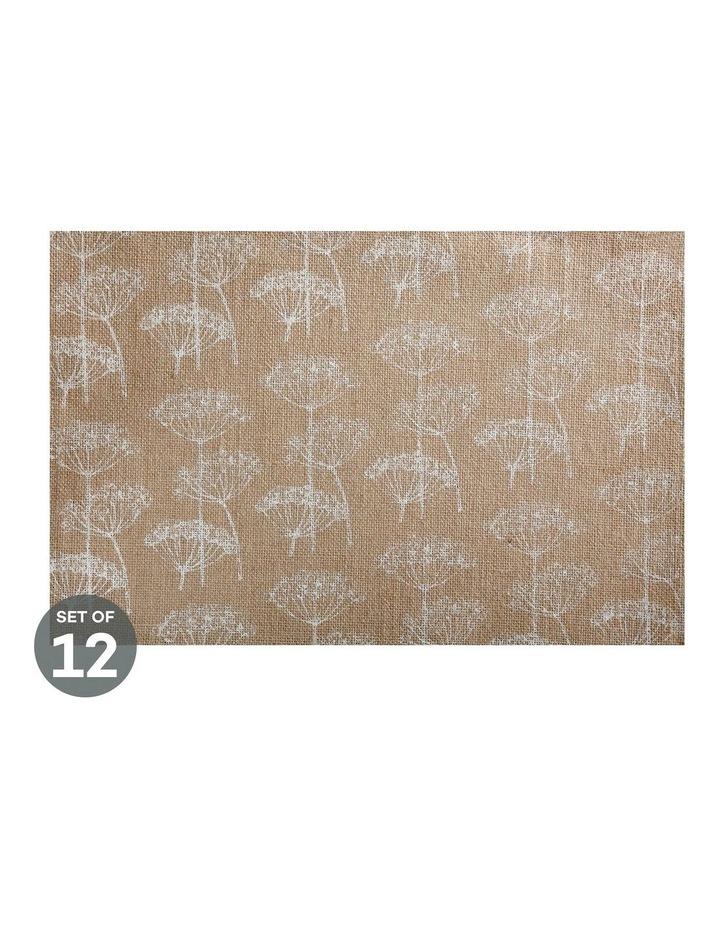 Table Accents Burlap Placemat 45x30cm White Set of 12 image 1