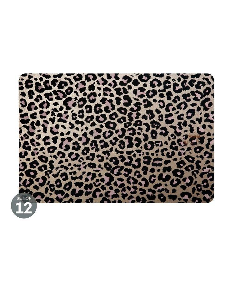Table Accents Leopard Placemat 45x30cm Gold Set of 12 image 1