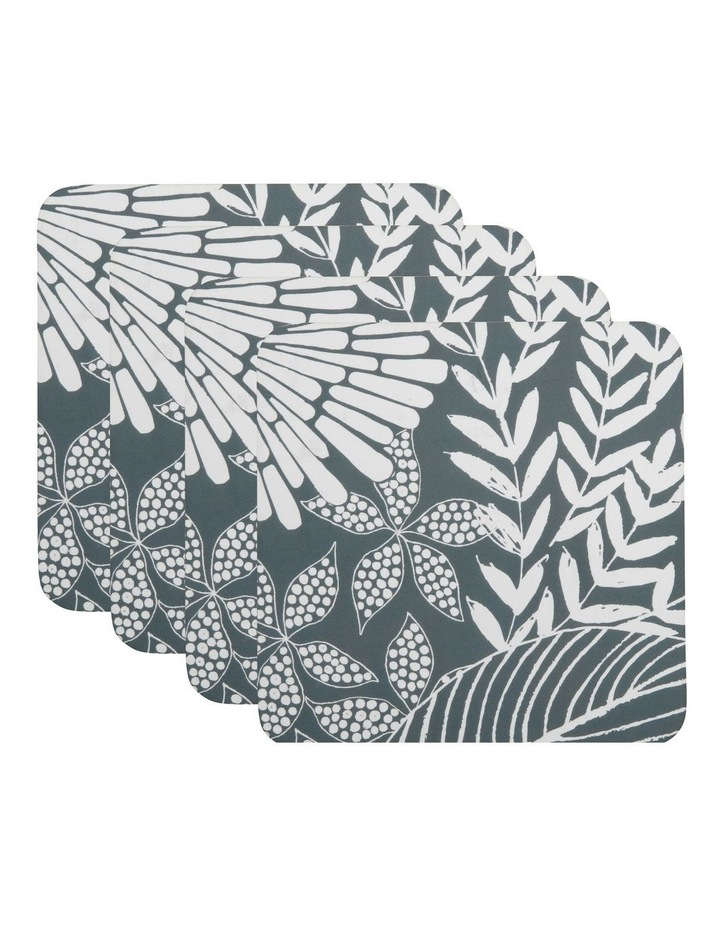 Island Cork Back Coaster 10.5cm Set of 4 Grey Gift Boxed image 1