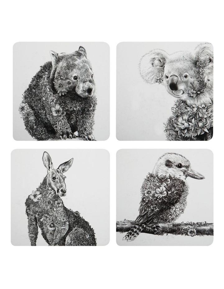 Marini Ferlazzo Animals of Australia Cork Back Coaster 10.5cm Set of 4 Gift Boxed image 1