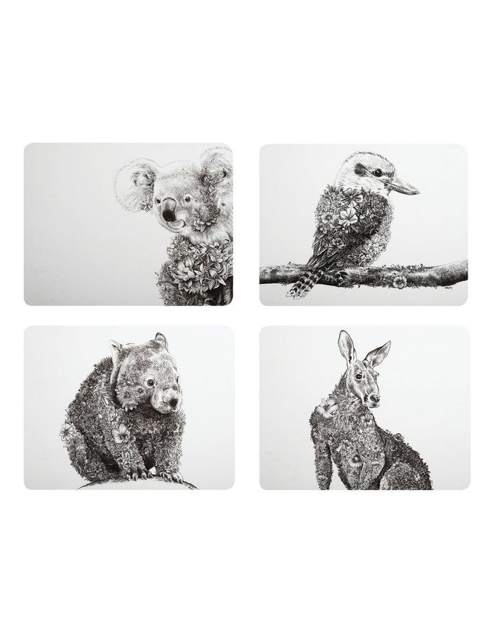 Marini Ferlazzo Animals of Australia Cork Back Placemat 34x26.5cm Set of 4 Gift Boxed image 1