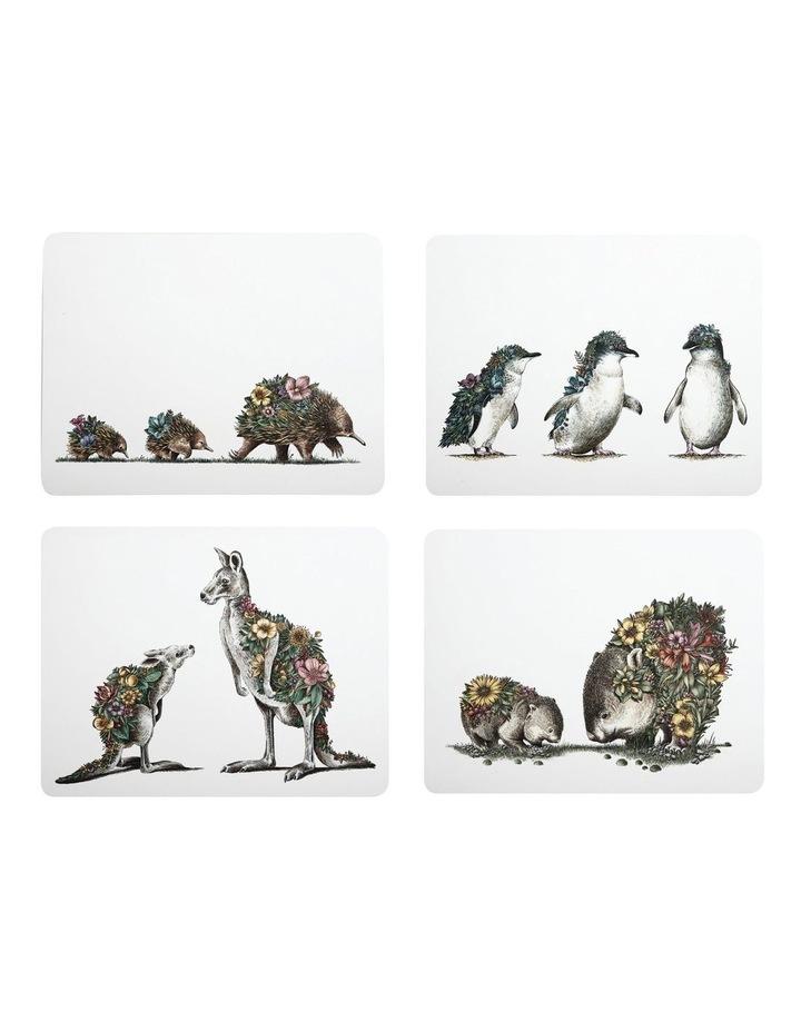 Marini Ferlazzo Australian Families Cork Back Placemat 34x26.5cm Set of 4 Gift Boxed image 1