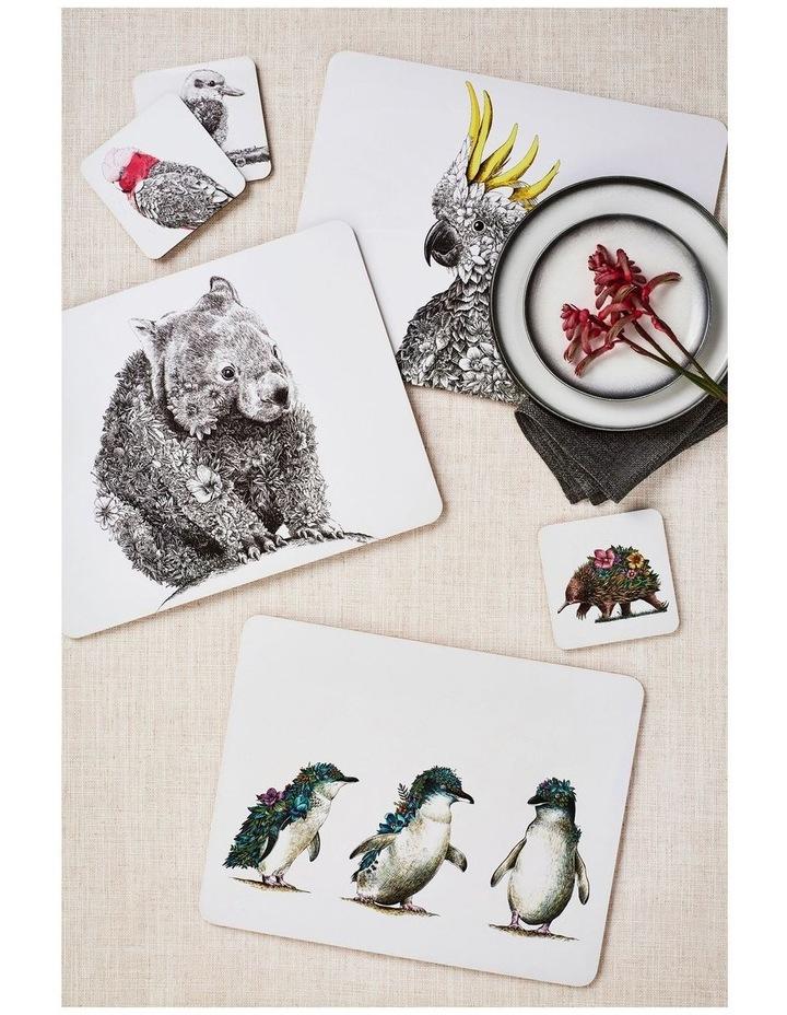 Marini Ferlazzo Birds of Australia Cork Back Coaster 10.5cm Set of 4 Gift Boxed image 2