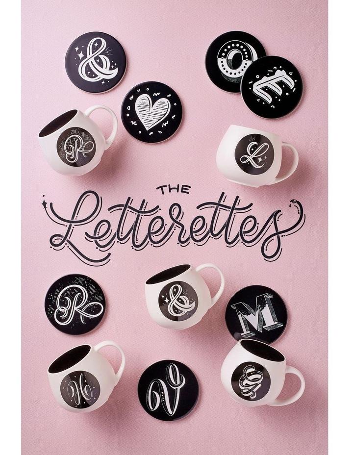 "The Letterettes Ceramic Round Coaster 10.5cm ""&"" Gift Boxed image 2"