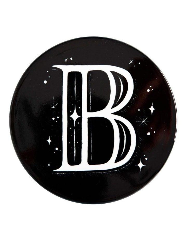 "The Letterettes Ceramic Round Coaster 10.5cm ""B"" Gift Boxed image 1"