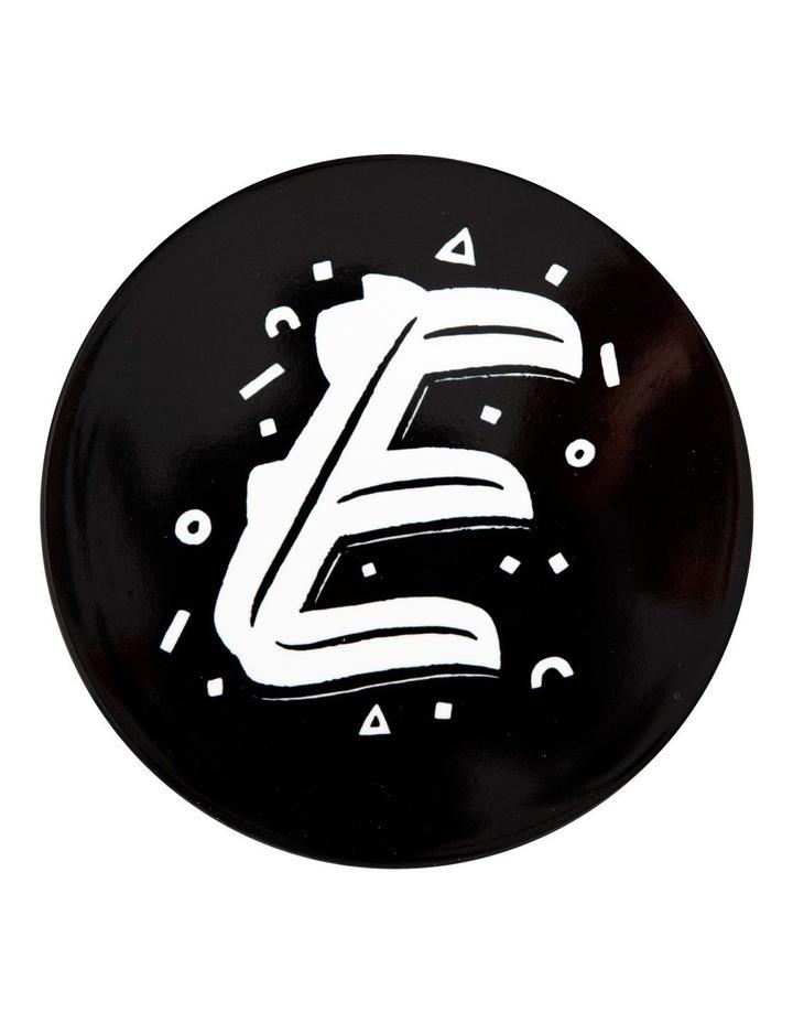 "The Letterettes Ceramic Round Coaster 10.5cm ""E"" Gift Boxed image 1"