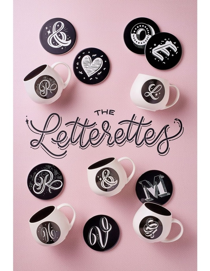 "The Letterettes Ceramic Round Coaster 10.5cm ""G"" Gift Boxed image 2"