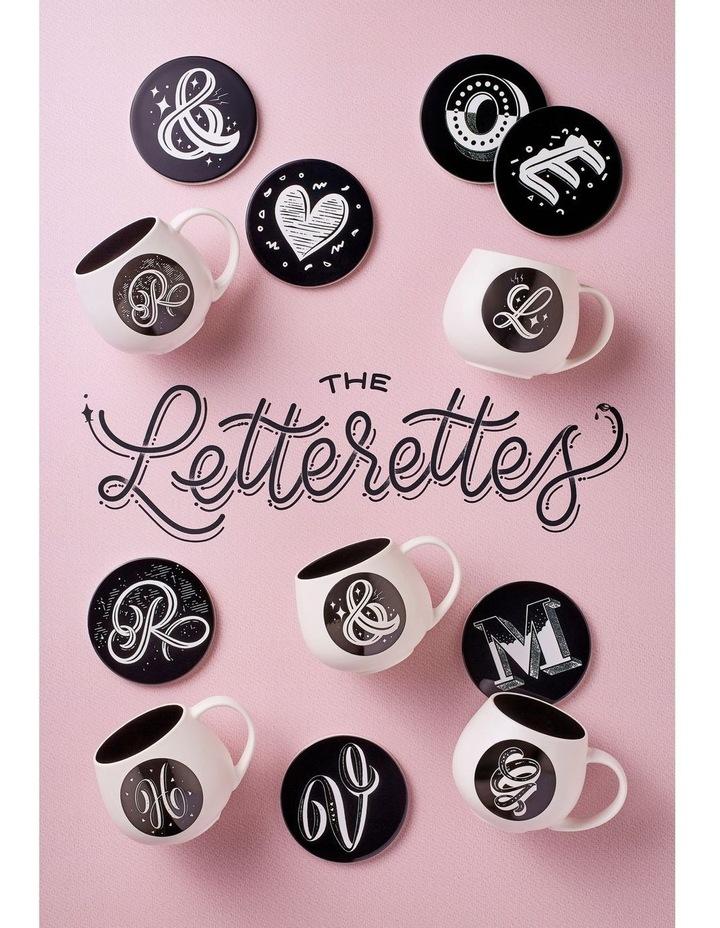 "The Letterettes Ceramic Round Coaster 10.5cm ""#"" Gift Boxed image 2"