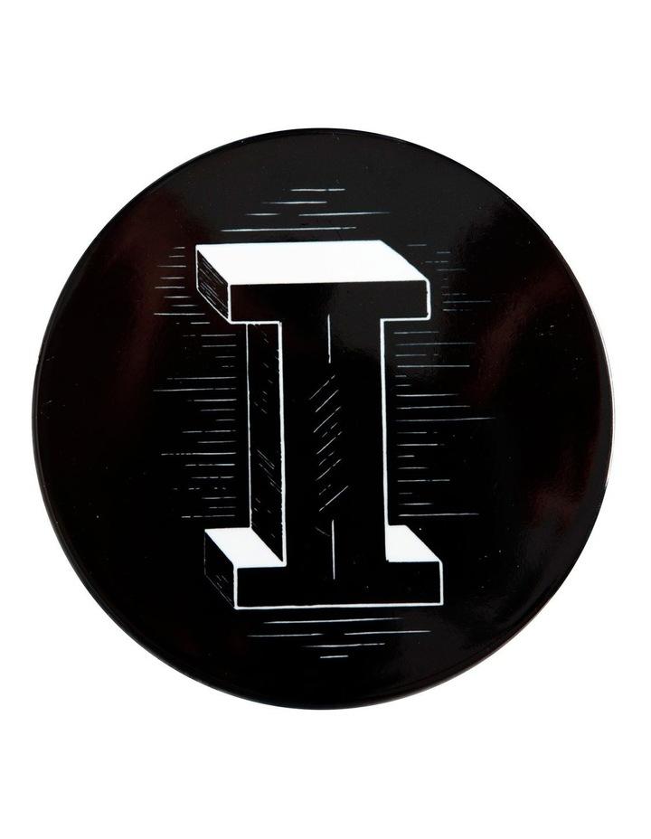 "The Letterettes Ceramic Round Coaster 10.5cm ""I"" Gift Boxed image 1"
