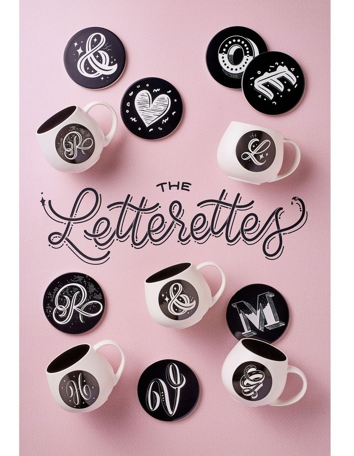 "The Letterettes Ceramic Round Coaster 10.5cm ""I"" Gift Boxed image 2"