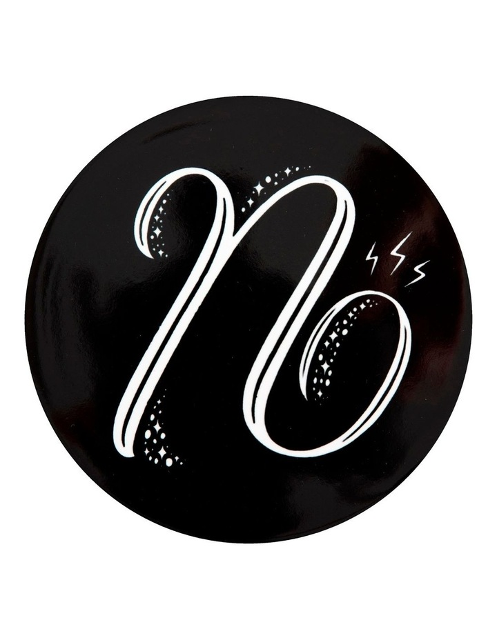 """The Letterettes Ceramic Round Coaster 10.5cm """"N"""" Gift Boxed image 1"""