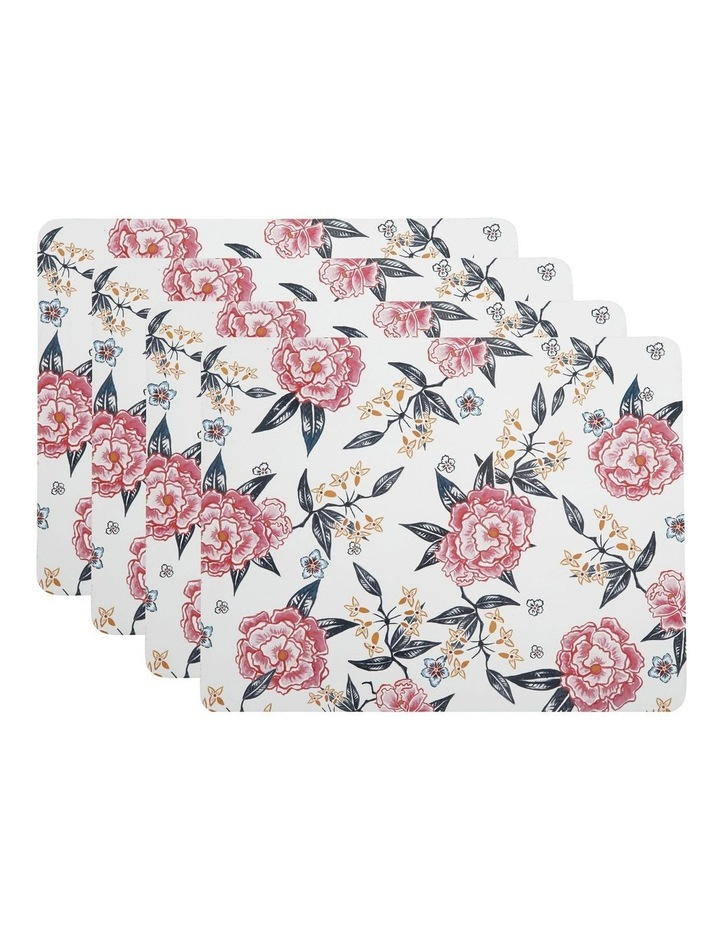 Peony Cork Back Placemat 34x26.5cm Set of 4 Gift Boxed image 1