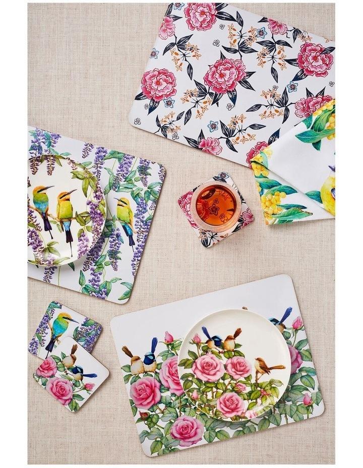 Peony Cork Back Coaster 10.5cm Set of 4 Gift Boxed image 2