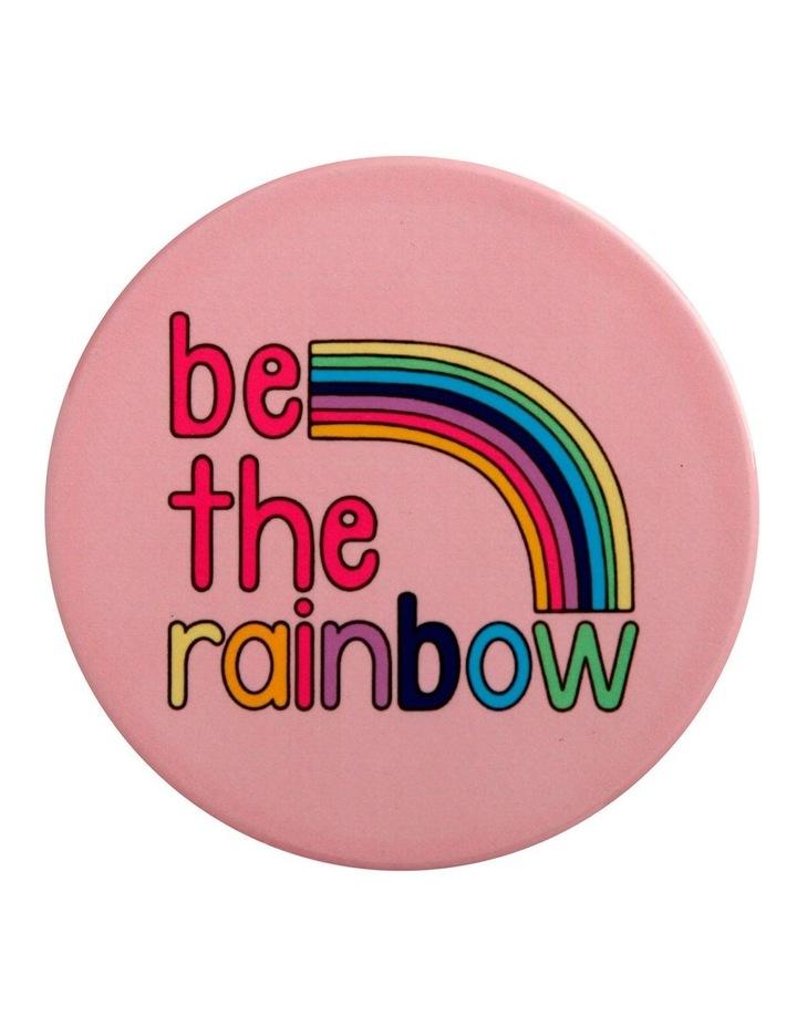 Kasey Rainbow Be Kind Ceramic Coaster 10cm Be The Rainbow image 1