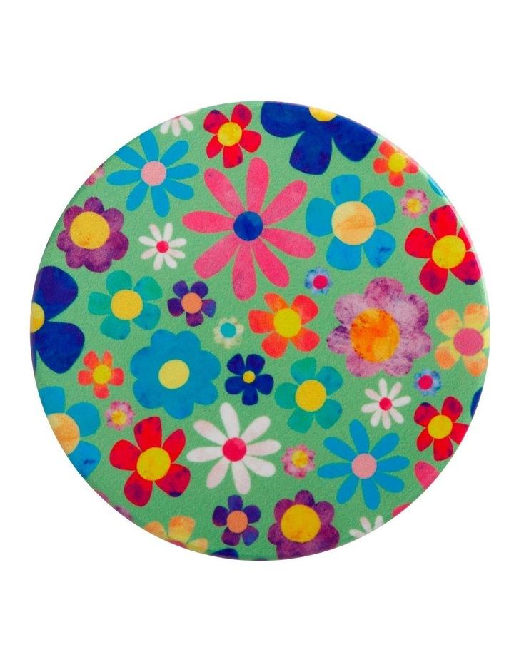 Kasey Rainbow Be Kind Ceramic Coaster 10cm Flowers image 1