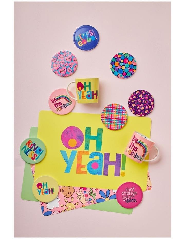 Kasey Rainbow Be Kind Ceramic Coaster 10cm Be Kind image 2